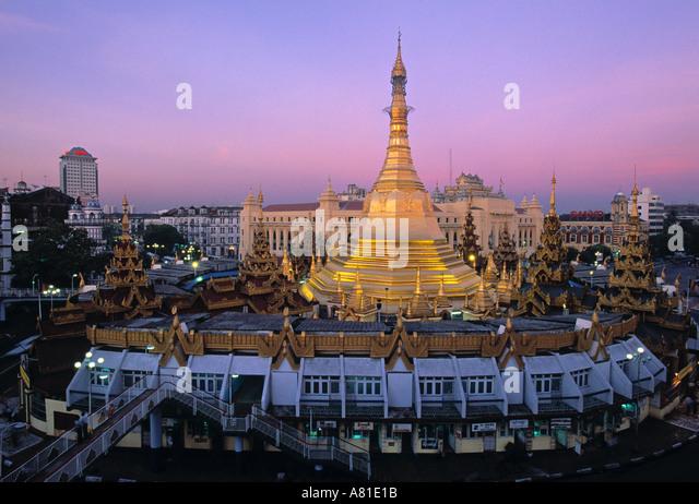 Sule Paya, Rangoon, Myanmar (Burma) - Stock-Bilder