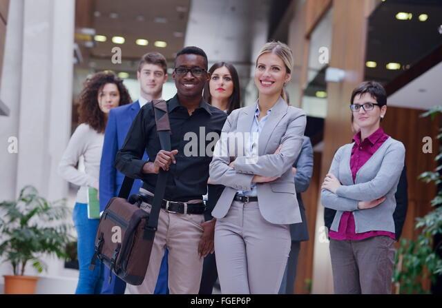 business poeple group - Stock Image