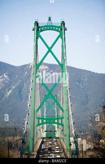 Lions gate bridge vancouver - Stock Image