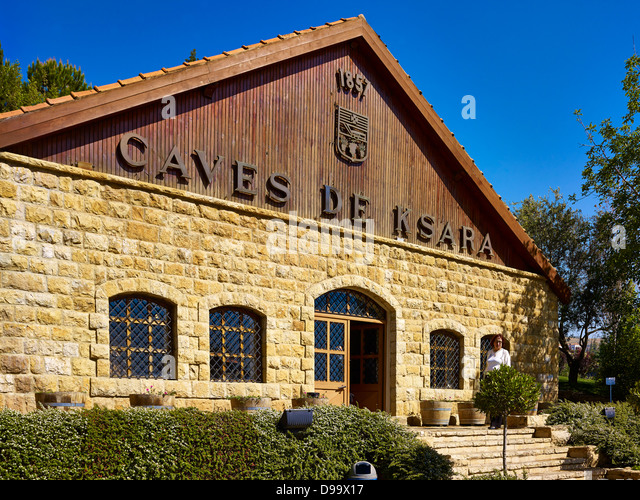 Ksara winery in the Bekaa Valley, Lebanon, Middle East - Stock Image