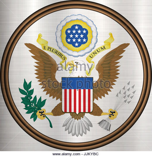 great seal the united states - Stock Image
