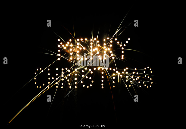 Merry Christmas bright sparks pattern - Stock Image