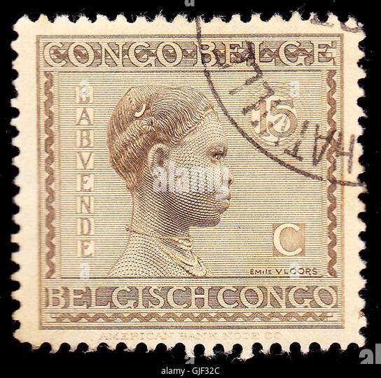 Belgian congo 1923 issue-15c - Stock-Bilder