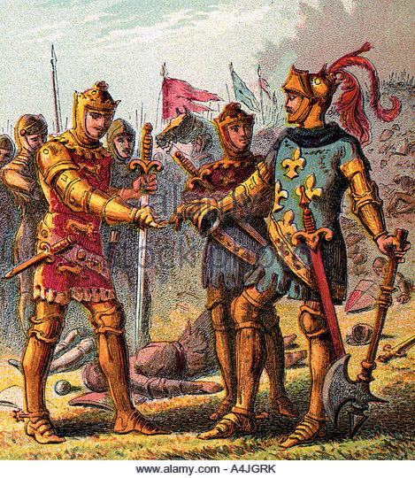 the battle of poitiers and king Battle of poitiers, (sept 19, 1356), the catastrophic defeat sustained by the french king john ii at the end of the first phase of the hundred years' war between france and england many of the french nobility were killed, and king jean was left a.