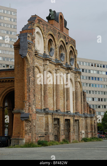 Berlin. Germany. Remains of Anhalter Bahnhof. - Stock Image