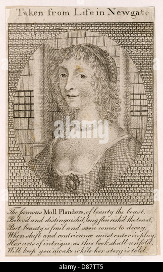 History Of Moll Flanders - Stock Image