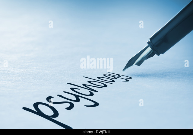 Fountain pen writing Psychology - Stock Image