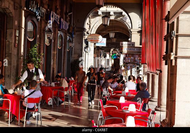 Cagliari , Cafe Torino, Italy Sardinia - Stock Image