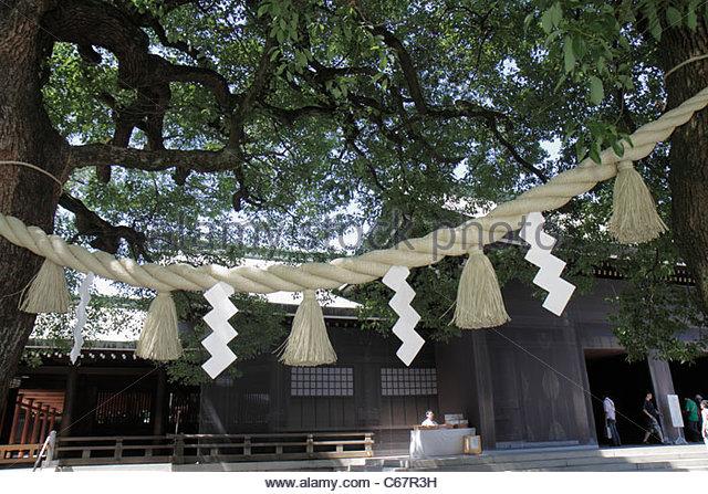 Japan Tokyo Shibuya-ku Meiji Jingu Shinto Shrine - Stock Image