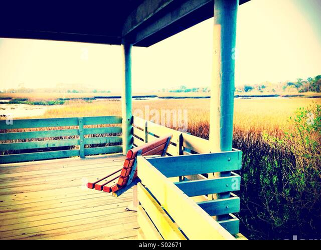 Sunset Pier - Stock Image