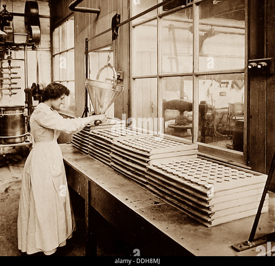Crumpsall CWS Biscuit Factory in 1908 - Stock Image