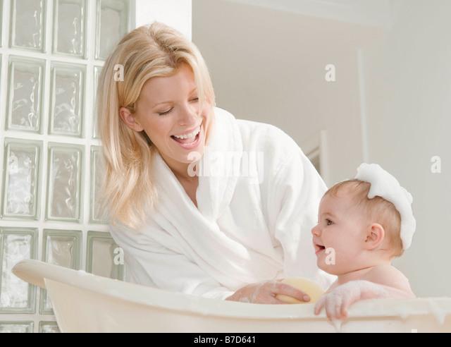 bathtime happy stock photos bathtime happy stock images alamy. Black Bedroom Furniture Sets. Home Design Ideas