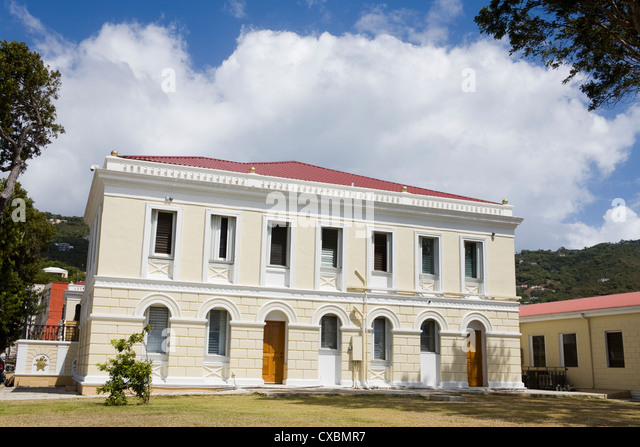 Legislature Building in Charlotte Amalie, St. Thomas Island, U.S. Virgin Islands, West Indies, Caribbean, Central - Stock Image
