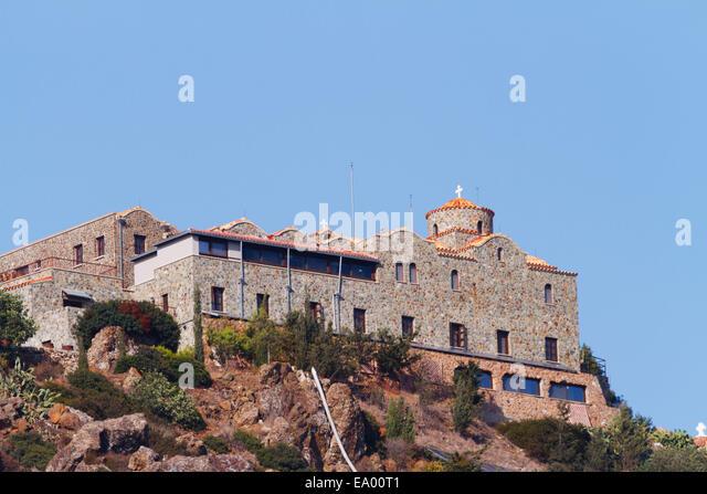 Stavrovouni Monastary, Cyprus. - Stock Image