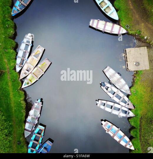 Row boats in Kerry - Stock-Bilder