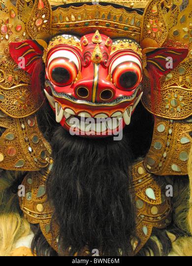 Bali Asia Barong mythology Indonesian mask Indonesia origin Hamburg Germany Europe Bali Asia Rangda museum - Stock Image
