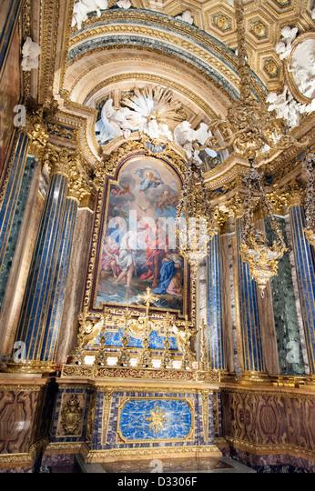 chapel of st john the baptist in the ingreja de sao roque lisbon