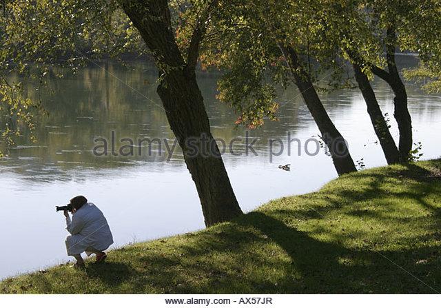 West Virginia Alderson Greenbrier River photographer - Stock Image