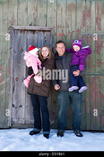 Portrait of Family - Stock Image