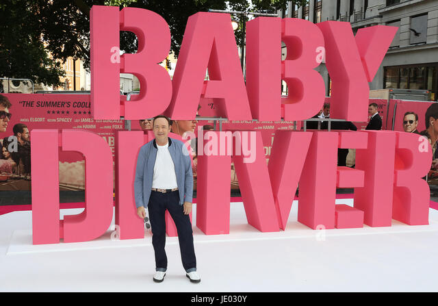 London, UK. 21st June, 2017. Kevin Spacey, Baby Driver - European film premiere, Leicester Square, London UK, 21 - Stock Image