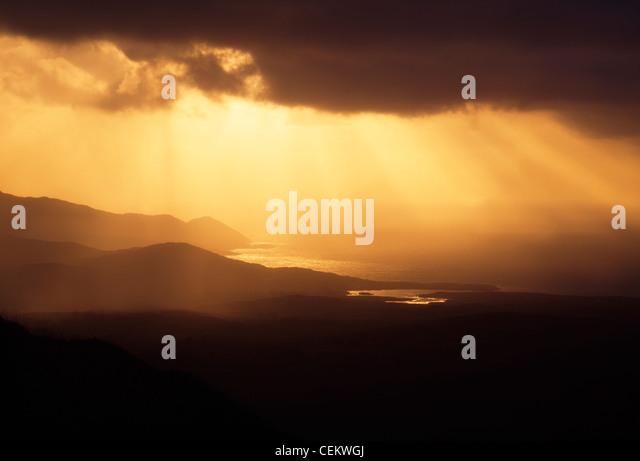 Co Cork, Mizen Head Peninsula, View From Mount Gabriel, Ireland - Stock Image