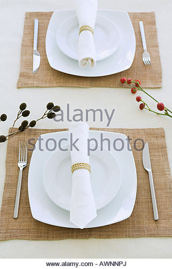 Place settings - Stock Image