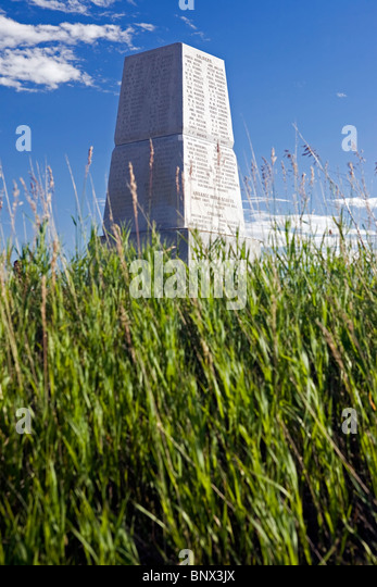 Little Big Horn Battlefield National Monument, Montana. - Stock Image