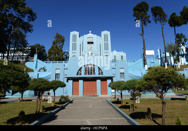 The Cathedral of Mary Help of Christians in Shillong, Meghalaya. - Stock Image