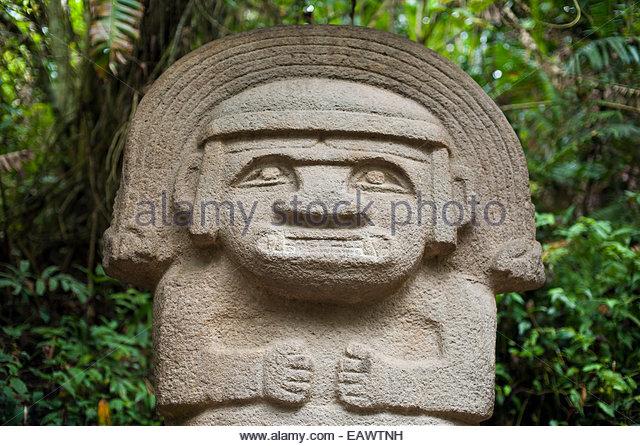Pre columbian statue stock photos