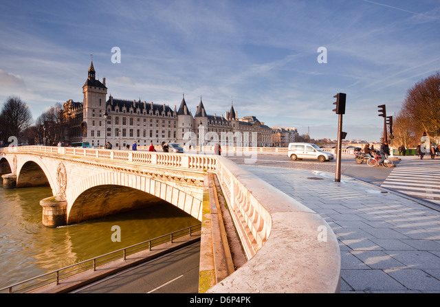 The Conciergerie palace on the Ile de la Cite, Paris, France, Europe - Stock Image