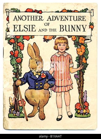 Children's Book the illustrated Another Adventure of Elsie and the Bunny from Cadbury's  FOR EDITORIAL USE - Stock Image