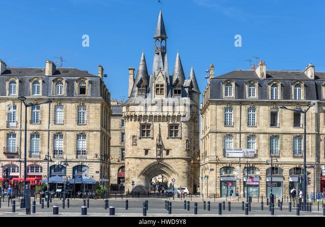 Porte cailhau bordeaux architecture stock photos porte for Porte 15 bordeaux