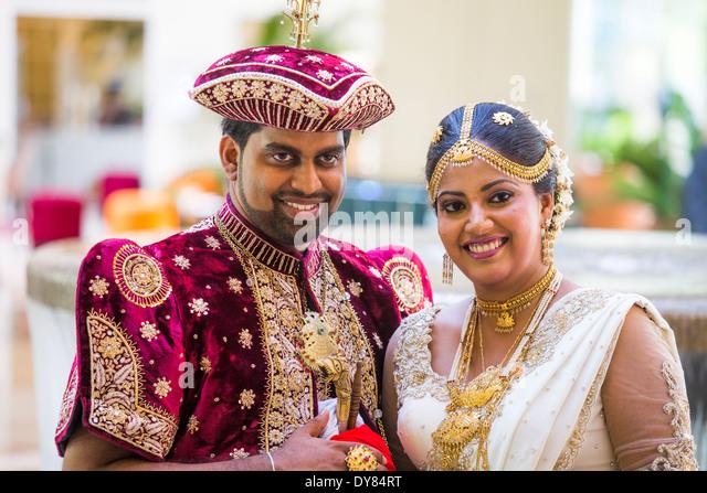 Wedding couple in Colombo, Sri Lanka - Stock-Bilder