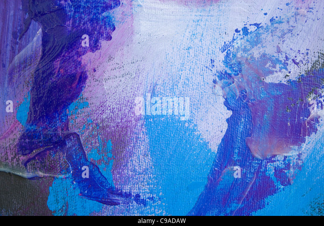 Blue Paint #2 - Stock Image
