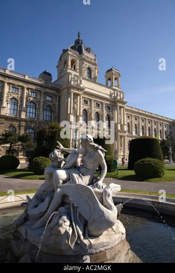 Vienna National History Museum fountain - Stock Image