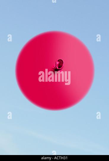 balloon from low angle Ballon von unten - Stock-Bilder