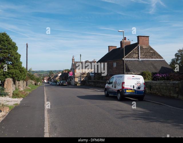 Parked van in a street in Holbrook near Belper, Derbyshire, United Kingdom. - Stock Image