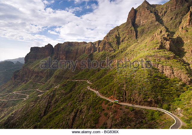 The road to Masca, Tenerife, Canary Islands, Spain. - Stock Image