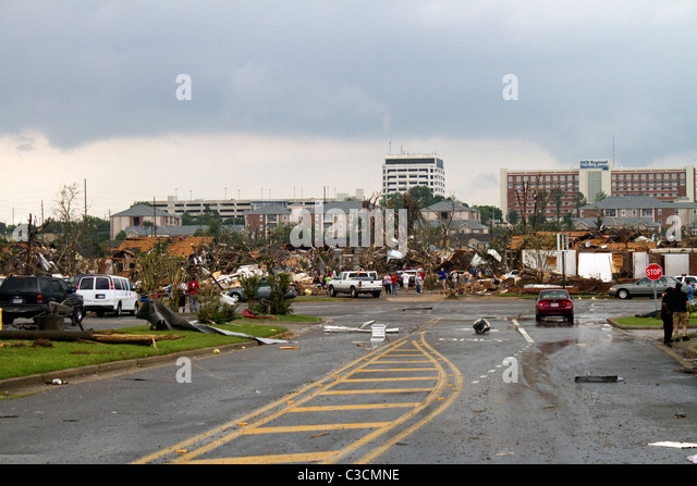Tuscaloosa Alabama Tornado Damage 4/27/2011 - Stock Image