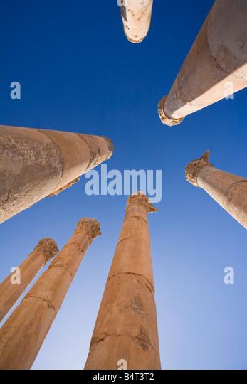 Agora, Jerash, Jordan - Stock Image