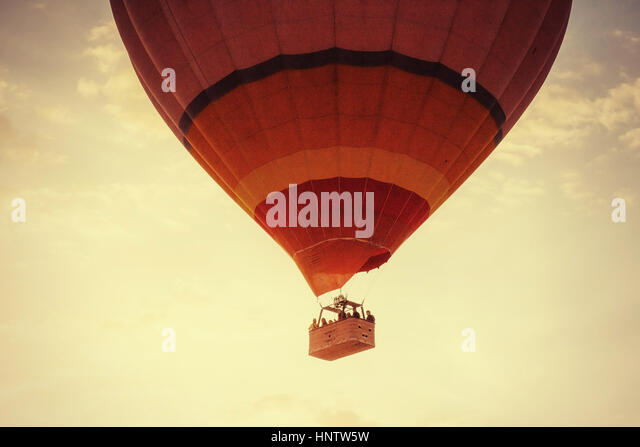 Balloon foggy morning in Cappadocia. TURKEY. blurred images - Stock Image