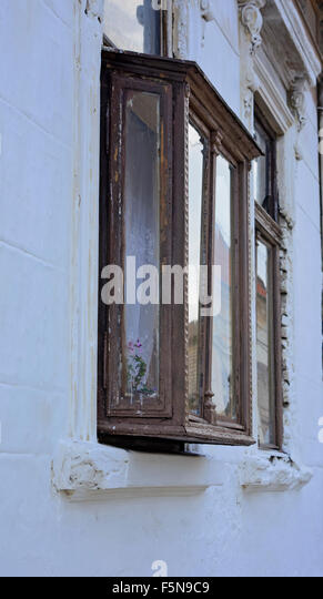 Half dilapidated stock photos half dilapidated stock images alamy - The house with protruding windows ...