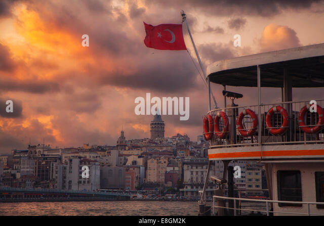 Turkey, Istanbul, Galata Tower - Stock Image