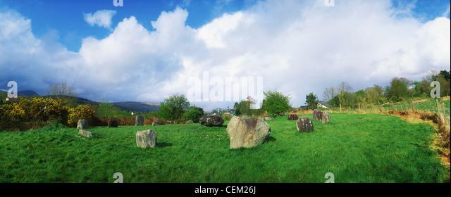 Stone Circle, Kenmare, Co Kerry, Ireland - Stock Image