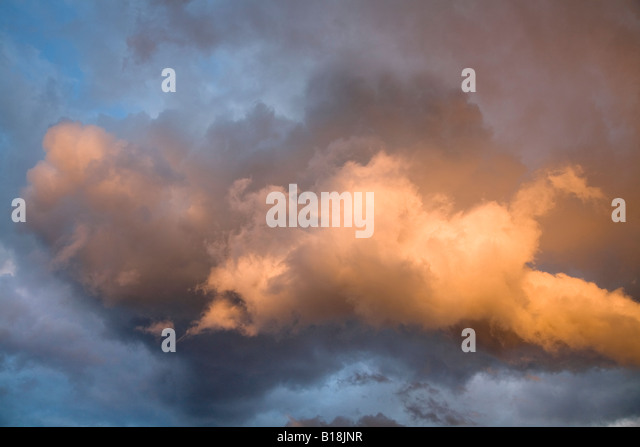 dramatic stormy sky with clouds - Stock-Bilder