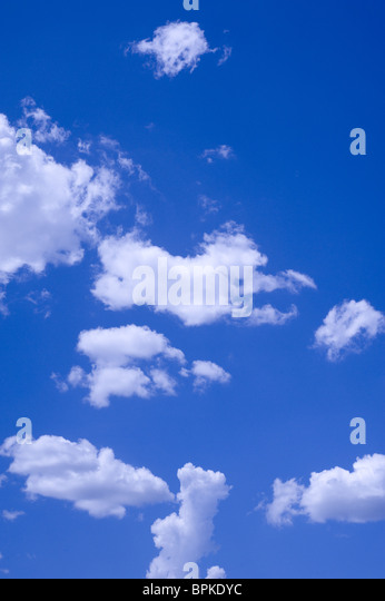 Clouds and Blue Sky - Stock Image