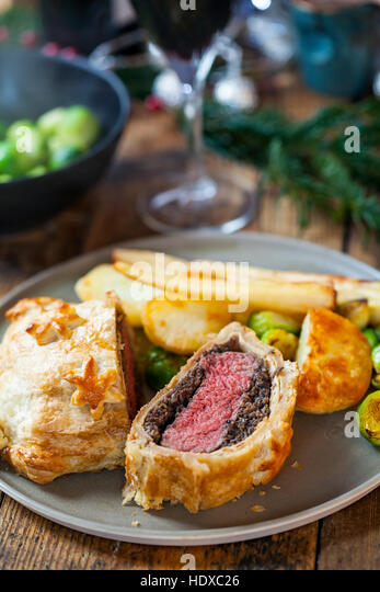 Traditional beef wellington - Stock Image