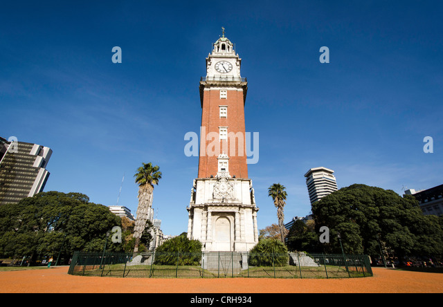 English Tower (Torre de Los Ingleses) Buenos Aires Argentina South America - Stock Image