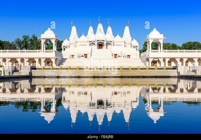 Hindu Temple in Atlanta, Georgia. - Stock Image