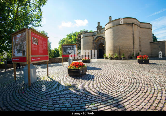Gatehouse at Nottingham Castle, Nottinghamshire England UK - Stock Image